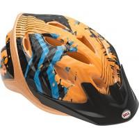 Bell Child Orange Zig-Zag Dragster Helmet - B00TS3FGJK
