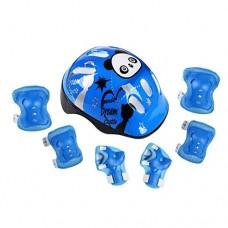 RAINSTAR 7pcs Panda Kids Bicycle Helmet Elbow Wrist Knee Pads Sport Cyling Bike Helmet for Children Skateboard Mtb Riding - B07D78S41X