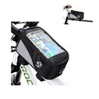 Bicycle Triangle Frame Bag Cycling Pouch Pocket Keys Gears Phone Bag Smartphone Cover for LG Stylus 3/Stylo 3/Tribute HD/U/Stylo 2 V/V20/X Power/Skin/X5/G5/Stylus 2 - B0721W5SD8
