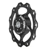 Ioffersuper Perfect MTB 11T Bike Road Bicycle Rear Derailleur Alloy Pulley Jockey Wheel Black - B01N4FLRW0