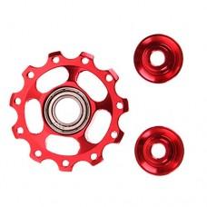 Ioffersuper Perfect MTB 11T Bike Road Bicycle Rear Derailleur Alloy Pulley Jockey Wheel Red - B01NAKT2WD