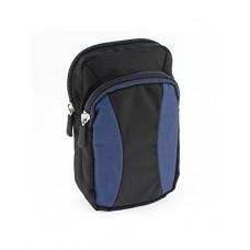 eDealMax esterna con cerniera del supporto del telefono del pacchetto Della vita Belt Bag Portafoglio Blu Nero - B07GPZ911S