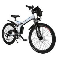 Dozenla Folding Electric Mountain Bike with Large Capacity Lithium-Ion Battery(US Stock) - B077ZW9Q7J