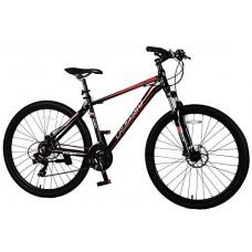 "Navi RS100 Hardtail Mountain Bike  Aluminum Alloy Frame  Disc Brakes  Shimano Tourney 21-speed  27.5"" Wheel Mountain Bike (BLACK / RED) - B010CVVVZY"