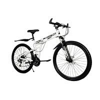 Omeng Mountain Bike Folding Bike Double Disc Brakes Bicycle(26''  21 speed) - B07F5HL5XX