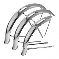 "Flared Stander Hollow Trike Conversion Kit Fender Set Chrome  Various Sizes (20"") - B077Q7VZJP"