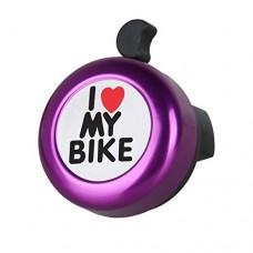 7-Almond Bicycle Bell -I Love My Bike I Like My Bike Bike Horn - Loud Aluminum Bike Ring Mini Bike Accessories for Adults Men Women Kids Girls Boys Bikes (Purple) - B07BNCYRRM