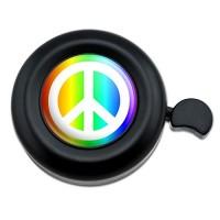 Peace Sign Symbol Rainbow Bicycle Handlebar Bike Bell - B00TUI4TNW