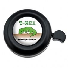 T-Rex Hates Push-Ups Tyrannosaurus Dinosaur Bicycle Handlebar Bike Bell - B00TUHL6E8