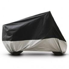 Black Silver Motorcycle Cover For Kawasaki KLR 650 KLR650 Bike UV Dust Prevention XL - B016V48KAK