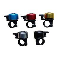 WINOMO 5pcs Bicycle Bell Bike Ring Loud for MTB Road Bike (Blue Red Gold Silver Black) - B075N6Z1HM
