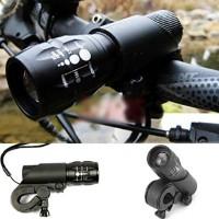 Bicycle Flashlight Q5 240 Lumen Front Head Light With Mount Bike Cycling Led - B019OMJZ7S