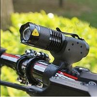 Bike Light - Headlight for Bike - 7 Watt 2000 Lumens 3 Modes LED Waterproof Front ZOOM Flashlight + Bike Torch Holder - - Bike Accessories - Bike Flashlight - Bike Light Mount - B073TQS1QH