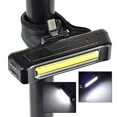 HeroNeo® USB Rechargeable Front Head Flashing Bike Bicycle Light Lamp Torch 100 Lumens (Yellow) - B00PJXGC00