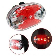 Quaanti Waterproof 9 LED Bike Bicycle Safety Front Tail Light Lamp Back Rear Flashlight Brake Lights Accessories (Black) - B07F6S4H61