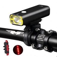 W WHEEL UP Bike Light 2500mAh USB Rechargeable Front LED Light Waterproof Handlebar Cycling Flashlight Touch Headlight Bicycle Accessories 400Lumens - B075CJGP2K