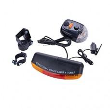 Quaanti 7 LED Bicycle Bike Turn Signal Directional Brake Light Lamp 8 Sound Horn New Arrival 2018 Cycling Accessories (Black) - B07F42J1BP