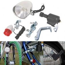 Aixia Bike light set Motorized Bike Friction Dynamo Generator Head Tail Light With Acessories - B072R21NYK