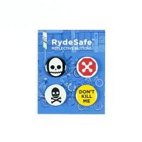 RydeSafe Reflective Buttons - Gnarly - 4 Pack - B01JB8IBTS