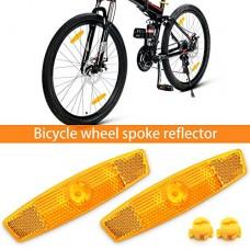 BSK 10Pcs Yellow Bicycle Wheel Spoke Night Safety Warning Reflector - B0749HM3K6