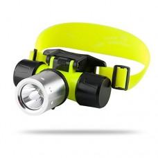 CREE T6 LED Diving Headlamp 'Nova' - 1200 Lumens  Waterproof Up To 60 Meters  Impact Resistant  Heavy Duty + Durable - B0132NZ286