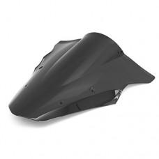 CoCocina Motorcycle Wind Shield Windscreen For Kawasaki Ninja 650 Er6F Ex650F 14 15 - Black - B0799HCR73