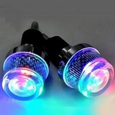 NACOLA 1 Pair Bicycle Handlebar Light LED Lamp Safety Safe Bike Flashing Light Cycling Warning Flashlight - B073XL7835