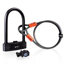BV Bike Combination U-Lock with 4ft Flex Cable Set Anti Theft for Road Bike Mountain Bike - B07BMCLVXD