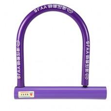 uxcell Steel Plastic Covered Bicycle Motorcycle Security U Lock w Keys - B07BXR65WQ