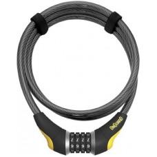 OnGuard 8000 Series Akita Combo 12mm Braided Steel Cable Lock - 6'/Black/Yellow - B009754SP2