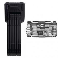 Abus Bordo Granit X Plus 6500/85cm (33.46 in) Folding Bike Lock and Crank Brothers M19 Multi Bicycle Tool Kit - B07D3MQM16