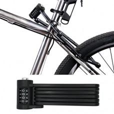 FLYDEER Universal Folding Bike Lock Steel Portable Chain lock Heavy Duty 6 Joints Bicycle Lock Anti-Theft Bike Password Lock with Storage Mounting - B07DDBLBK6
