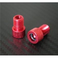 DierCosy 2x Red Presta to Schrader Aluminium Bike Valve Adaptor Adapter Converter with o-ring Seal - B07BJZ7F1R