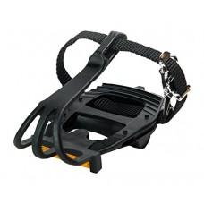 Retrospec Bicycles Classic Road Bike Pedal with Integrated Toe Cage/Clip/Strap  All Black - B00MU0L5L6