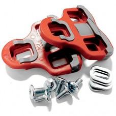 VeloChampion Look Keo Grip Pedal Cleats 6 Degree Float Red - B00J4K0YYY
