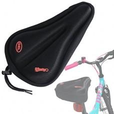 WINNINGO Child Bike Gel Seat Cushion  Child Cycling Saddle Cover Comfortable Small Bicycle Saddle Pad (Black) - B076P8XJZX