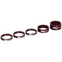 XLC Headset Spacers 1-1/8 5/Bag Red - B004KQOQXC