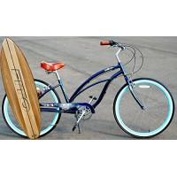 "Anti rust light weight aluminum alloy frame Fito Marina alloy 7 speed 26"" wheel womens beach cruiser bike bicycle midnight blue - B018JEIXXY"