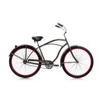 "Fatal Love 29"" Beach Cruiser Steel Frame in Flat Mocha Metallic  Coaster Brake   Red Alloy Rims  Seat & Grip Black  Fender Flat Mocha Metallie ( Color: Flat Mocha Metallic / Red ) - B00JCGWZW4"