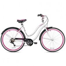 "Kent 26"" Susan G Komen Women's Sturdy Steel Frame  Padded seat  Standard pedals  Pink rims and Strong Linear Pull Brakes Cruiser Bike - B077RK11SX"