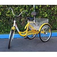 "New 6-Speed 24"" 3-Wheel Adult Tricycle Bicycle Trike Cruise Bike W/ Basket - B00QZFJ8ZC"