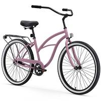 Sixthreezero Around the Block Women's 26-Inch 1-Speed Beach Cruiser Bike in Plum - B079XXSH4B